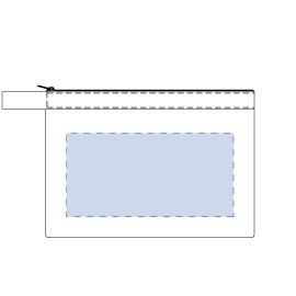 キャンバスベルトストラップポーチ(M)の印刷範囲